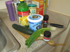 Ingredients for Tzatziki