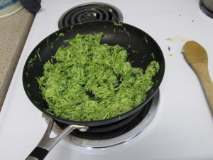 Cooked zucchini mixture