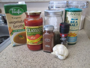 Ingredients for Enchilada Sauce