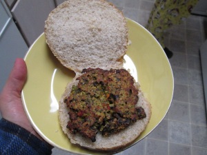 Completed Black Bean Burger