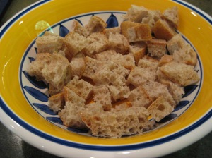 stale bread cubes