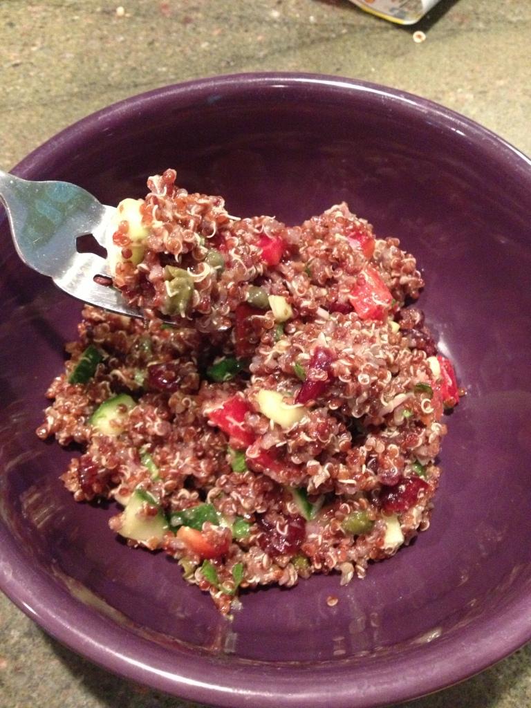 Quinoa Salad with Dijon Vinagrette