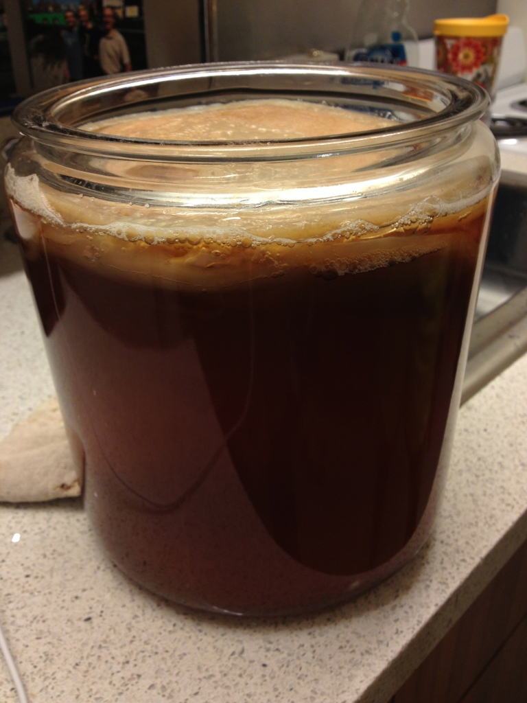 A new batch of tea ready to ferment.