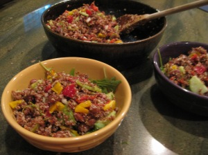 Quinoa and Red Bean Salad
