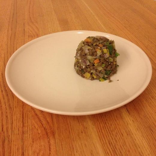 Lentil salad completed